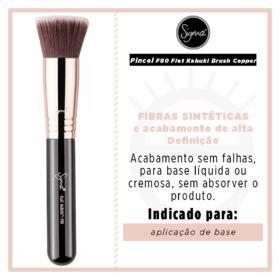 Pincel para Base Sigma Beauty F80 Flat Kabuki Brush Copper - 1 Un
