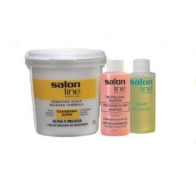 Kit Salon Line Alisante Guanidina - Super | 215g | Mais Ativador Mais Neutralizante