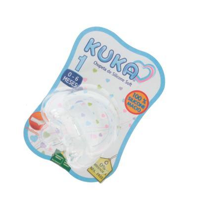 Imagem 3 do produto Chupeta de Silicone Kuka Soft Ortodôntica Tamanho 1 0-6 Meses -