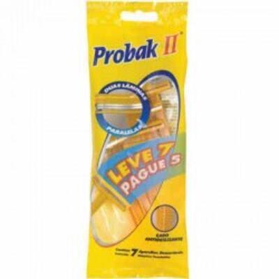 Imagem 1 do produto Aparelho de Barbear Gillette Probak II - 7 Unidades