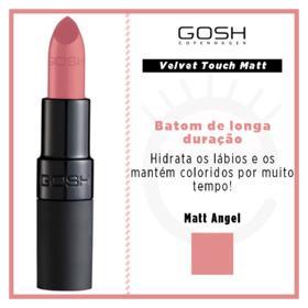 Batom Gosh Copenhagen - Velvet Touch Lipstick Matt - Matt Angel