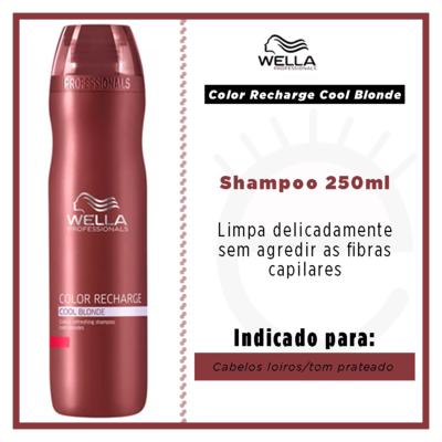 Imagem 2 do produto Wella Professionals Color Recharge Cool Blonde - Shampoo - 250ml