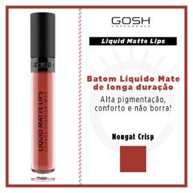 Batom Líquido Gosh Copenhagen - Liquid Matte Lips - 007 - Nougat Crisp