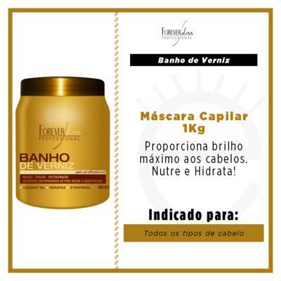Imagem 2 do produto Forever Liss Banho de Verniz Brilho Hidratante - Máscara Capilar - 1Kg