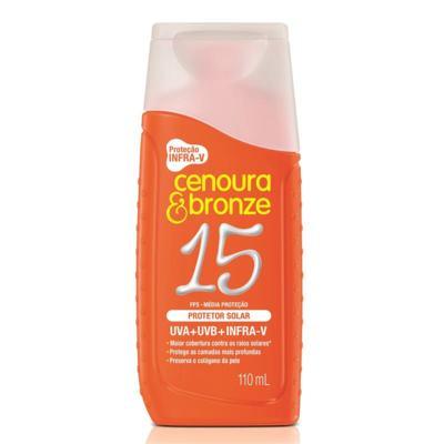 Imagem 1 do produto Protetor Solar Cenoura & Bronze Com Cor FPS 15 110ml