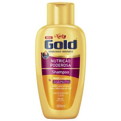 Imagem 2 do produto Kit Niely Gold Nutrição Poderosa Shampoo Sem Sal 300ml + Condicionador 200ml
