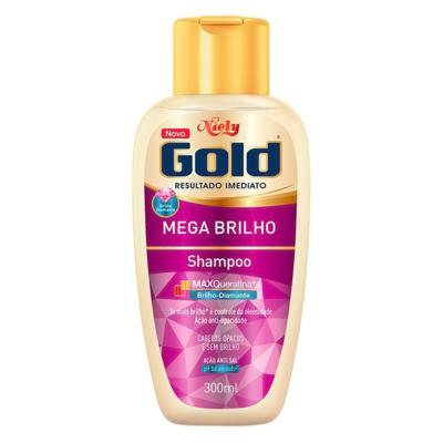 Imagem 2 do produto Kit Niely Gold Mega Brilho Shampoo 300ml + Condicionador 200ml