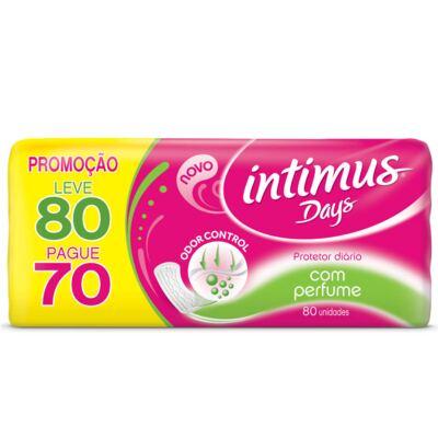 Imagem 2 do produto Kit Intimus Protetor Diário Intimus Days Odor Control Com Perfume 80 Unidades + Sabonete Líquido Íntimo Suave 200ml