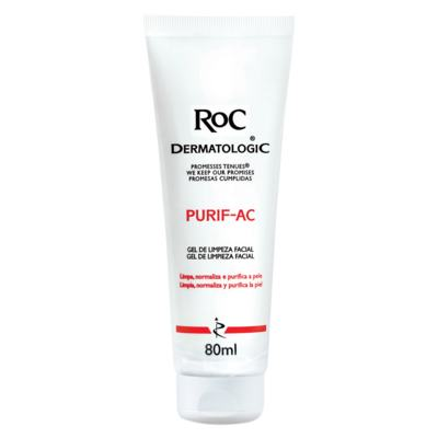 Imagem 2 do produto Kit Roc Pro-Correct Concentrado Intensivo 30ml + Gel de Limpeza Facial Purif-Ac 80g