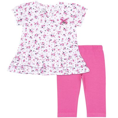 Bata com Legging para bebe em cotton Tropical - Vicky Lipe - 18620001.53 CONJ.BATA C/LEGGING - COTTON-2