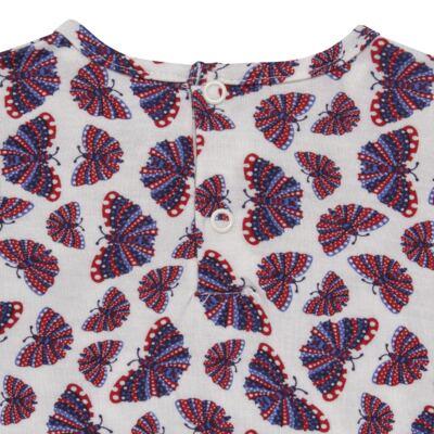 Imagem 4 do produto Blusinha c/ Shorts frufru para bebe em viscolycra Butterflies - Baby Classic - 21001628 BLUSINHA M/C COM SHORTS VISCOLYCRA BUTTERFLY-P