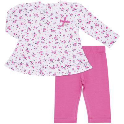Imagem 1 do produto Bata longa com Legging  para bebe em cotton Tropical - Vicky Lipe - 18520001.53 CONJ.BATA C/LEGGING - COTTON-3