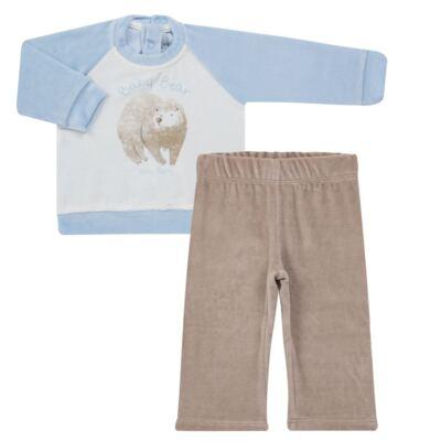 Imagem 1 do produto Blusão com Calça para bebe em plush Forest Bear - Vicky Baby - 1797-4250 CJ BLUSÃO URSO FOREST -3