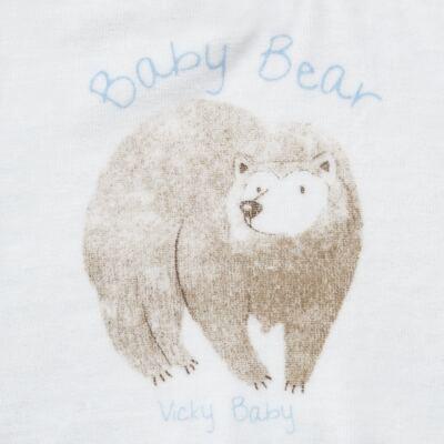 Imagem 3 do produto Blusão com Calça para bebe em plush Forest Bear - Vicky Baby - 1797-4250 CJ BLUSÃO URSO FOREST -3