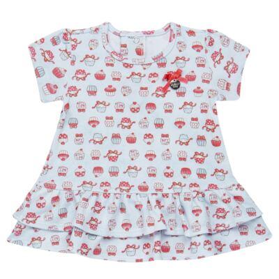 Imagem 2 do produto Bata com Legging para bebe em suedine Cupcakes - Vicky Baby - 1964-704 CJ BATA CORS. CUPCAKE INF SUEDINE-3