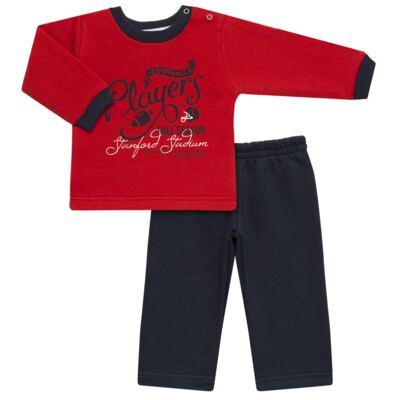 Imagem 1 do produto Blusão com Calça para bebe em moletom Football - Mini Mix - LTCM09 CONJUNTO MOLETOM FOOTBALL VERMELHO/MARINHO-G