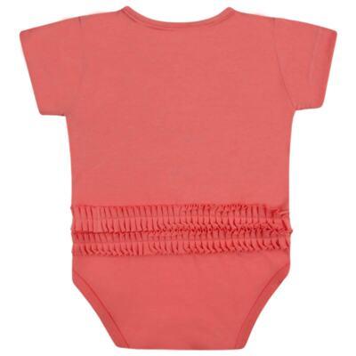 Imagem 2 do produto Body curto para bebe em cotton Strawberry - Vicky Lipe - 89845 BODY MC FEMININO COTTON COELHA-M