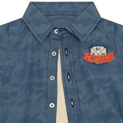 Imagem 2 do produto Body Camisa para bebe em tricoline Camouflage - Baby Classic - 092953 CAMISA BODY TRICOLINE LONDON -M