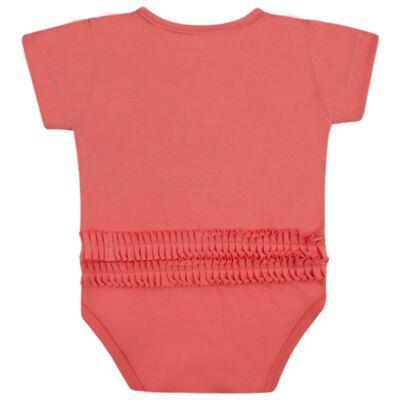Imagem 2 do produto Body curto para bebe em cotton Strawberry - Vicky Lipe - 89845 BODY MC FEMININO COTTON COELHA-GG