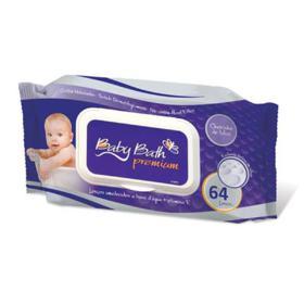 Lenço Umedecido Baby Bath Premium 64 unidades
