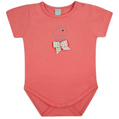 Imagem 1 do produto Body curto para bebe em cotton Strawberry - Vicky Lipe - 89845 BODY MC FEMININO COTTON COELHA-P