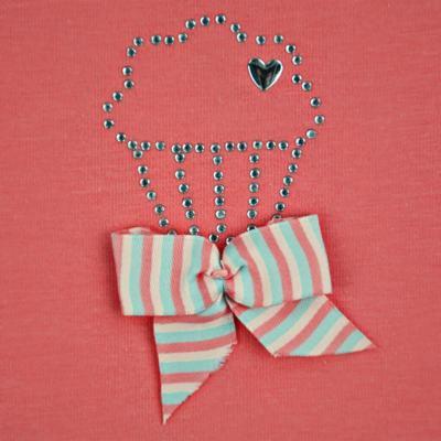 Imagem 3 do produto Body curto para bebe em cotton Strawberry - Vicky Lipe - 89845 BODY MC FEMININO COTTON COELHA-P