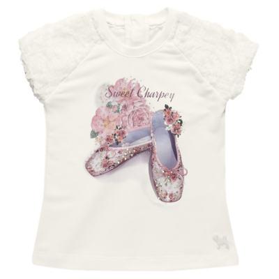 Imagem 2 do produto Blusa com Legging para bebe em cotton Ballerina Camelli - Charpey - CY14729.138 CONJ. BLUSA C/ LEGGING OFF WHITE -GG