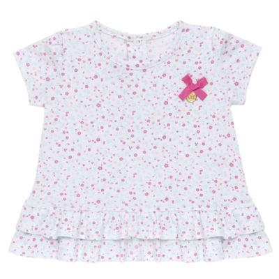 Imagem 2 do produto Bata com Legging para bebe em cotton Aqua Flower - Vicky Lipe - 8341363 CONJ. BATA COM LEGGING COTTON ELEFANTINHO 2-P