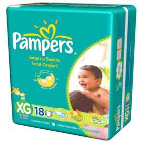 Fralda Pampers Total Confort - XG | 18 unidades