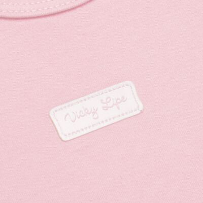 Imagem 3 do produto Body curto com Shorts para bebe em suedine Rosa - Vicky Lipe - CSH1376 CONJ. BODY M/C C/ SHORTS SUEDINE ROSA BB-G