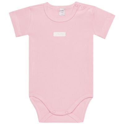 Imagem 2 do produto Body curto com Shorts para bebe em suedine Rosa - Vicky Lipe - CSH1376 CONJ. BODY M/C C/ SHORTS SUEDINE ROSA BB-M