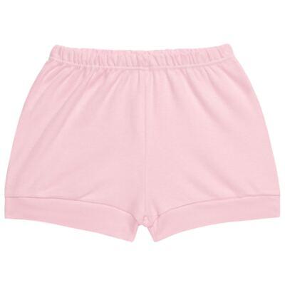 Imagem 4 do produto Body curto com Shorts para bebe em suedine Rosa - Vicky Lipe - CSH1376 CONJ. BODY M/C C/ SHORTS SUEDINE ROSA BB-M