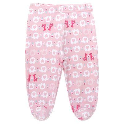 Imagem 4 do produto Body longo com Calça (mijão) para bebe em suedine Little Cute - Vicky Lipe - CEL1362 CJ. BODY ML C MIJÃO SUEDINE ELEFANTINHO-P