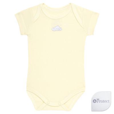 Imagem 1 do produto Body curto para bebe em suedine Baby Protect Amarelo - Mini & Kids - BDTC1736 BODY M/C TRANSP. SUEDINE AMARELO-P