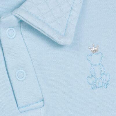 Imagem 3 do produto Body longo com Calça (mijão) em suedine Azul Matelassê - Grow Up - 01020218.0003 CONJ. PG BEAR FRIEND AZUL-G