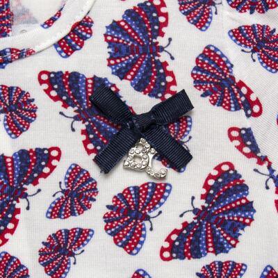 Imagem 4 do produto Bata c/ Legging para bebe em viscolycra Butterflies - Baby Classic - 22111628 BATA MC COM LEGGING VISCOLYCRA BUTTERFLY-P