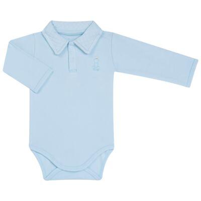 Imagem 2 do produto Body longo com Calça (mijão) em suedine Azul Matelassê - Grow Up - 01020218.0003 CONJ. PG BEAR FRIEND AZUL-P