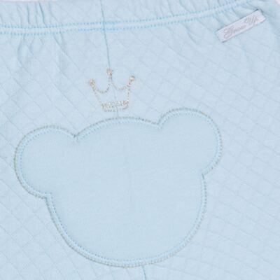 Imagem 7 do produto Body longo com Calça (mijão) em suedine Azul Matelassê - Grow Up - 01020218.0003 CONJ. PG BEAR FRIEND AZUL-P