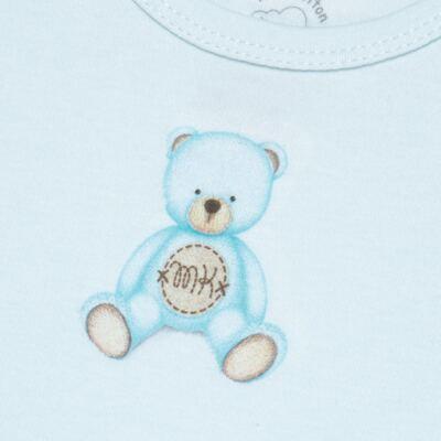 Imagem 2 do produto Body curto para bebe em Pima Cotton Supreme Prime Bear Azul - Mini & Kids - BDMC0001.63 BODY MANGA CURTA - SUEDINE-M