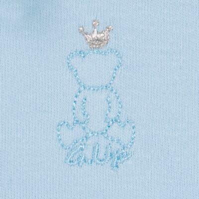 Imagem 4 do produto Body longo com Calça (mijão) em suedine Azul Matelassê - Grow Up - 01020218.0003 CONJ. PG BEAR FRIEND AZUL-M