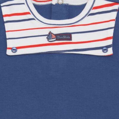 Imagem 2 do produto Body curto para bebe c/pala em Pima Cotton Supreme Sailor Boy - Mini & Kids - BCAF540 BODY MC COM ABER.FRONTAL SUEDINE-M