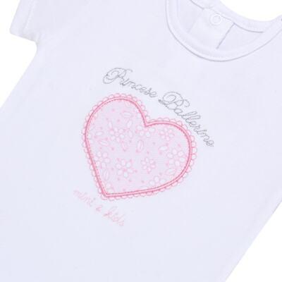 Imagem 3 do produto Body curto com Calça (mijão) para bebe em spandex Ballerine - Mini & Kids - CTU1356 BODY MC E MIJÃO C/BABADO TULE EXPAND BALLET-GG