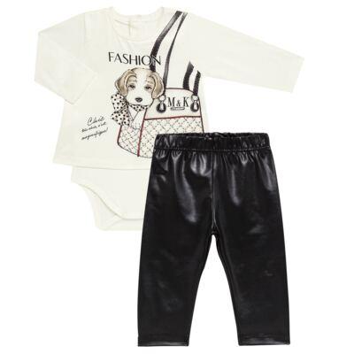 Imagem 1 do produto Body Bata com Legging para bebe cirré Fashion Glam - Mini & Kids - CJVL0001.233 CONJ.BODY C/LEGGING - VISCONFORT-G