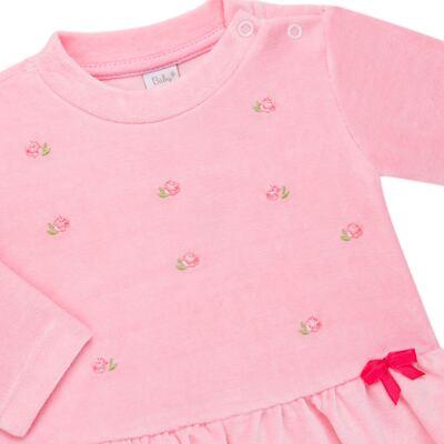 Imagem 3 do produto Bata com Calça para bebe em plush Little Roses - Baby Classic - 976881.218 CONJUNTO BATA COM CALÇA - PLUSH ROSA-G