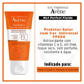 Protetor Solar Avène - Mat Perfect FPS 60 Com Cor | 50ml