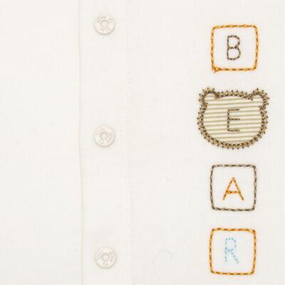 Imagem 2 do produto Body curto para bebe com abertura frontal em algodão egípcio c/ jato de cerâmica e filtro solar fps 50 Nature Beary Bear- Mini & Kids - BCA966 BODY M/C C/ ABERT.FRONTAL SUEDINE LITTLE FRIENDS 1-P