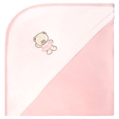 Imagem 1 do produto Manta dupla face em Pima Cotton Supreme Pink Baby Bear - Mini & Kids - MVS1526 MANTA AVULSA SUEDINE URSINHA