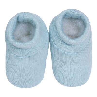 Imagem 3 do produto Kit c/ Touca, Luva e Sapatinho em suedine em high comfort Azul - Vicky Lipe - 46010001.31 KIT TOUCA/LUVA E SAPATINHO - SUEDINE
