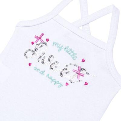 Imagem 3 do produto Body com Saia para bebe em malha Little Cute - Vicky Lipe - 23991362 BODY C/ SAIA MALHA ELEFANTINHO-P