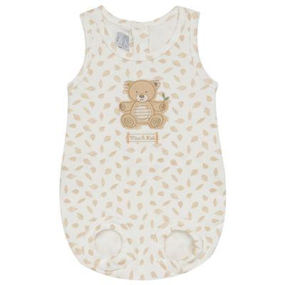 Imagem 1 do produto Banho de Sol para bebe em algodão egípcio c/ jato de cerâmica e filtro solar fps 50 Nature Little Friend Bear - Mini & Kids - MCSL0001.18 MACACÃO REGATA - SUEDINE-G